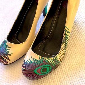 TUK Peacock Feather Size 10 Heel